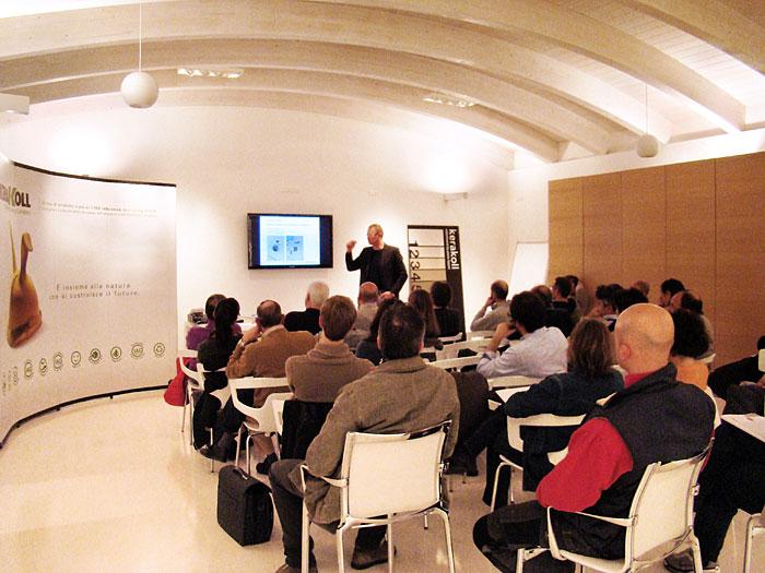 Natalucci partner di Kerakoll Design House ospita l'evento di presentazione della nuova filosofia per l'interior design presso il suo show room di Jesi